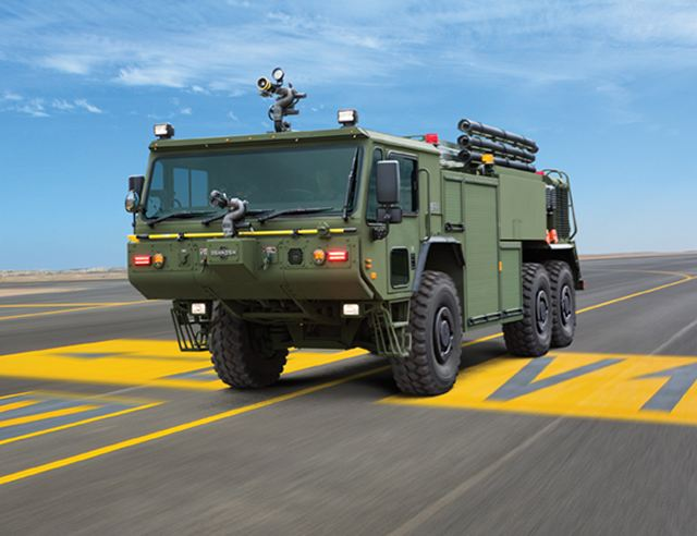 Oshkosh Defense announced today that the U.S. Marine Corps has awarded a delivery order valued at more than $33 million for an additional 54 P-19R Aircraft Rescue and Firefighting (ARFF) vehicles.