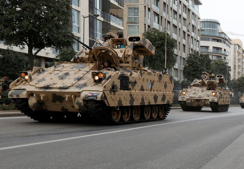 Lebanon first public appearance of Bradley M2A2 IFV at military parade 925 001