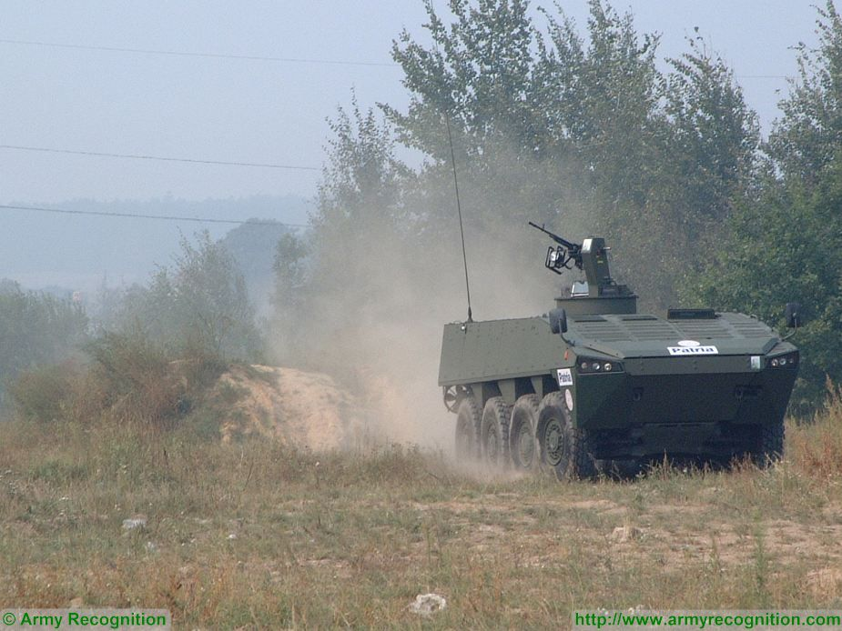 Patria from Finland offers AMV 8x8 armored for Bulgarian army 925 001