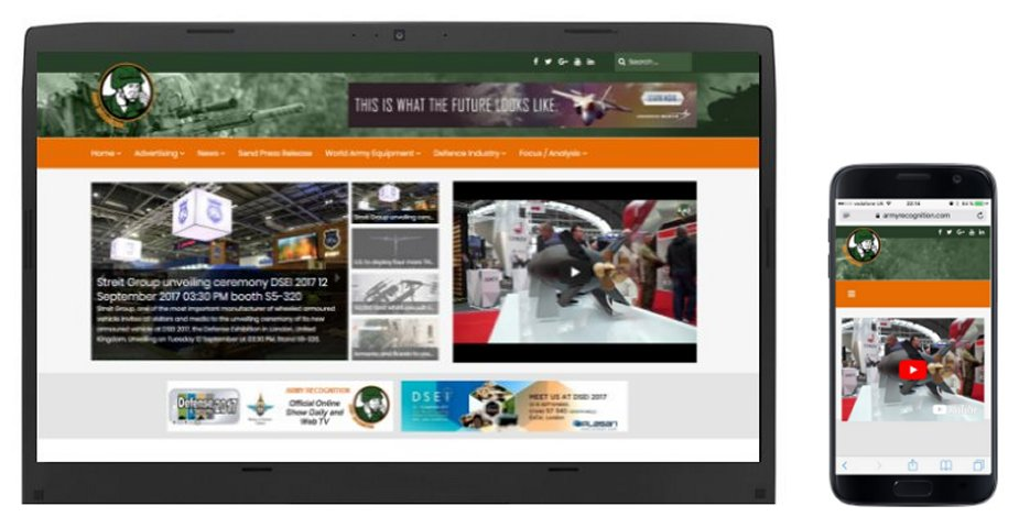 Army Recognition officially launches its newly redesigned website at DSEI 2017 925 001