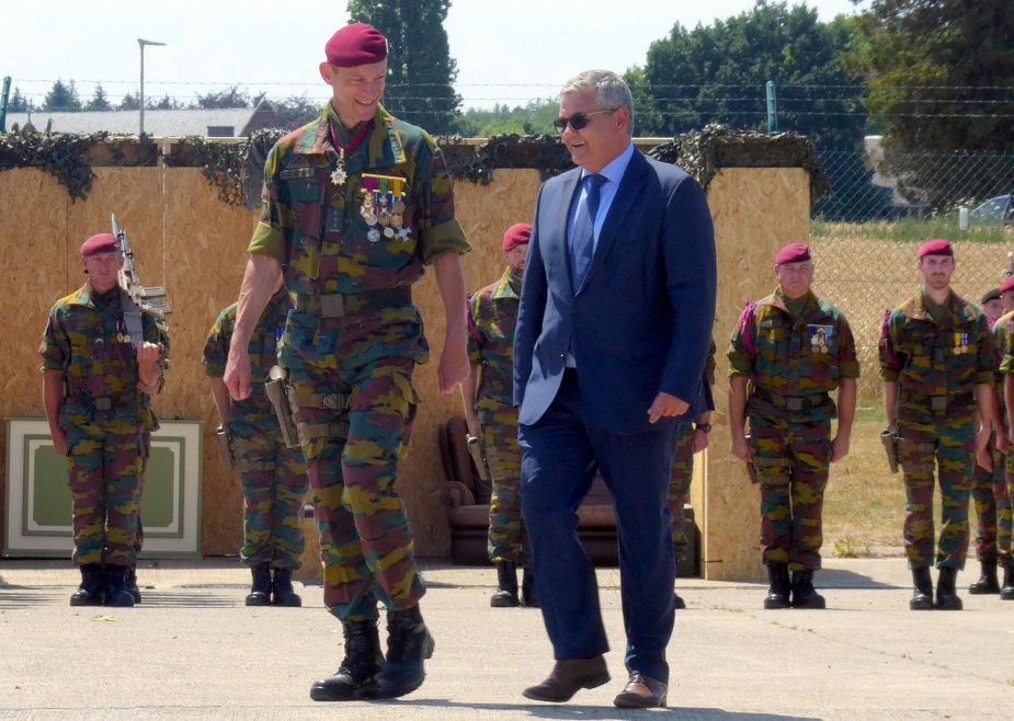 The Belgian army inaugurated its Special Operations Regiment