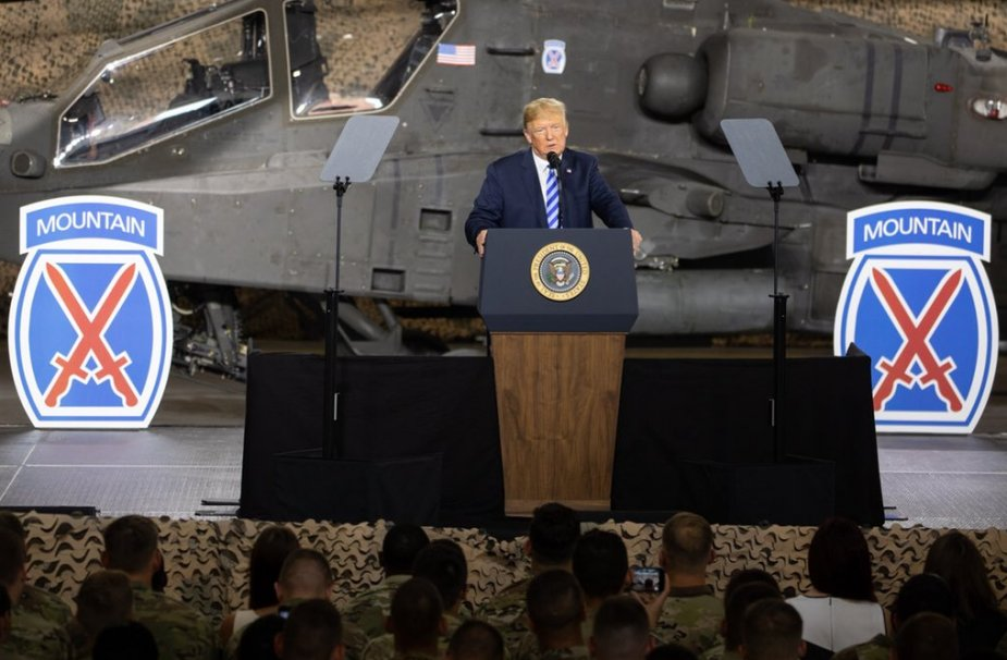 Trump speaks at defense bill signing in NY