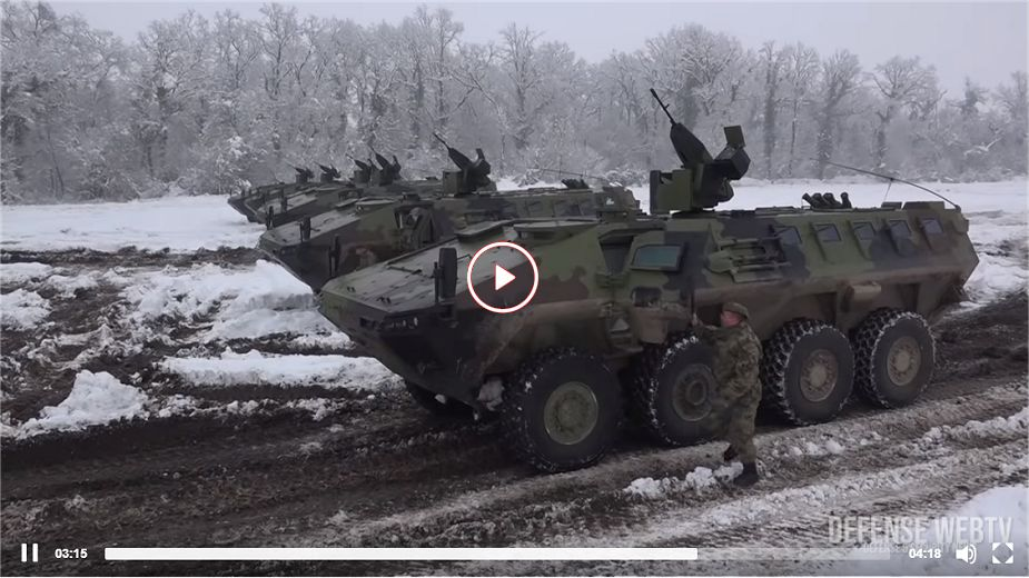 Lazar 3 8x8 armored APC enters in service with Serbian army image video 925 001