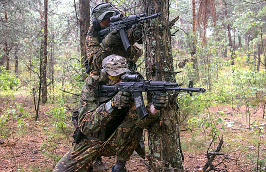 Russian Uzbek special forces in Belarus for competition
