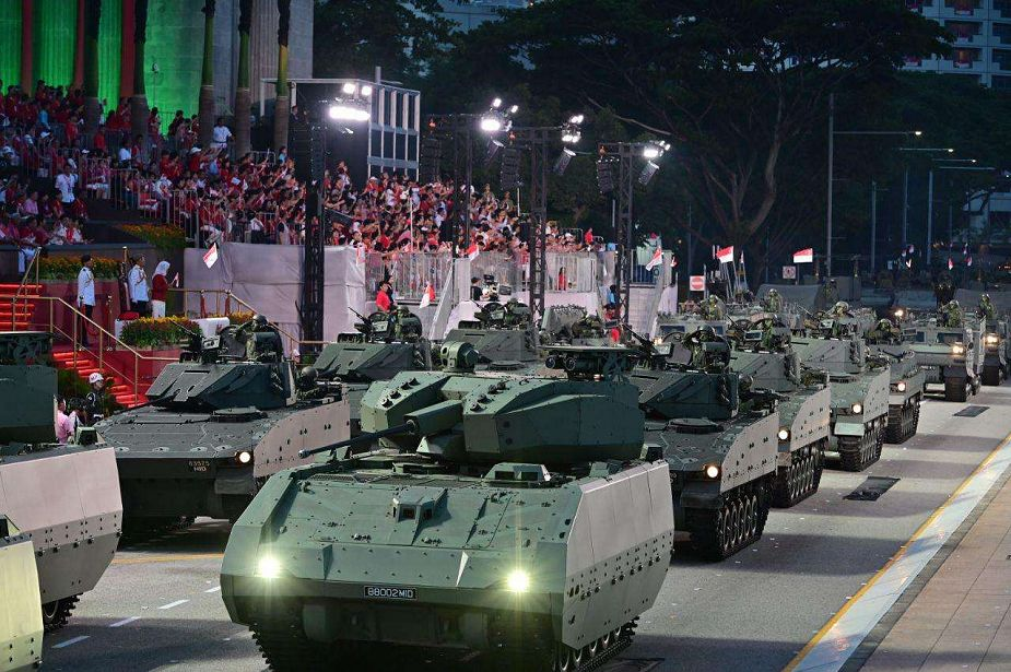 Singapore New Hunter tracked AFV Armored Fighting Vehicle at military parade925 001