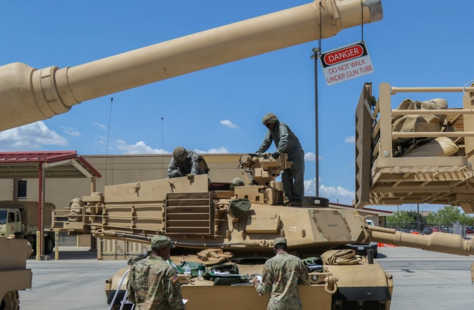 U.S. combat team receives first M1A2 SEPV 2 Abrams tanks following armor conversion