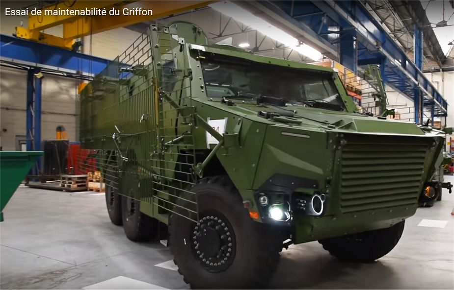 New Griffon 6x6 armored of French army can be fitted with wire cage armor 925 001