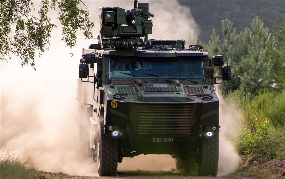 The 92nd VBMR GRIFFON 6x6 wheeled multi role armored vehicle for French Army 925 002
