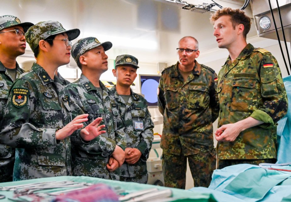 Chinese and German units in joint Combined Aid 2019 medical exercise 2