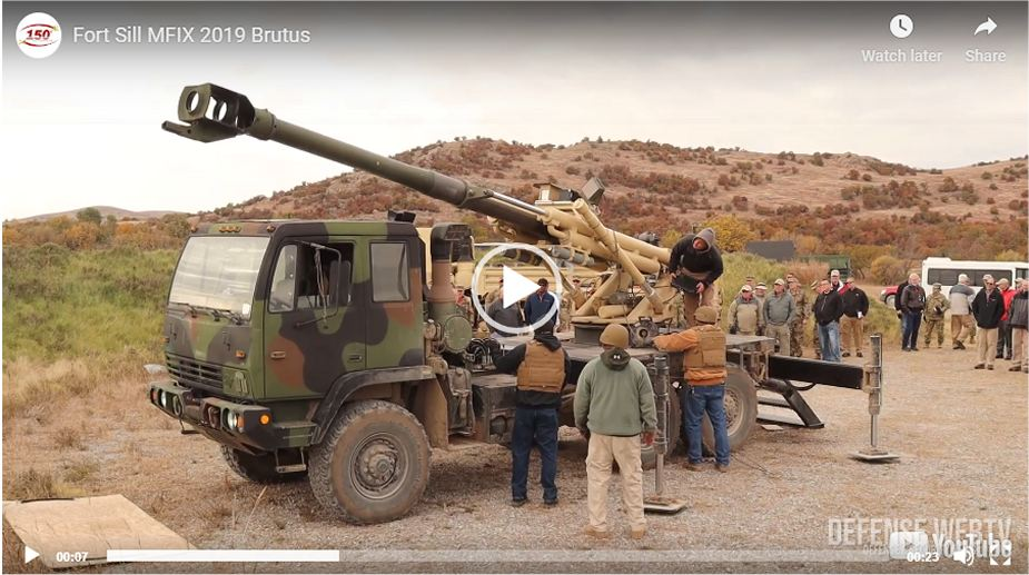 New American Brutus 155mm 6x6 self propelled howitzer showed at Northern Strike 2019 video image 925 001