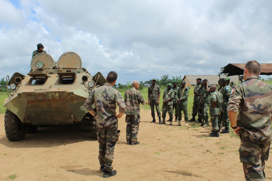 French army trains Congolese armored forces