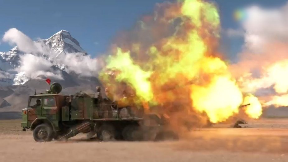 Major military drill in Tibet testing new tank howitzer