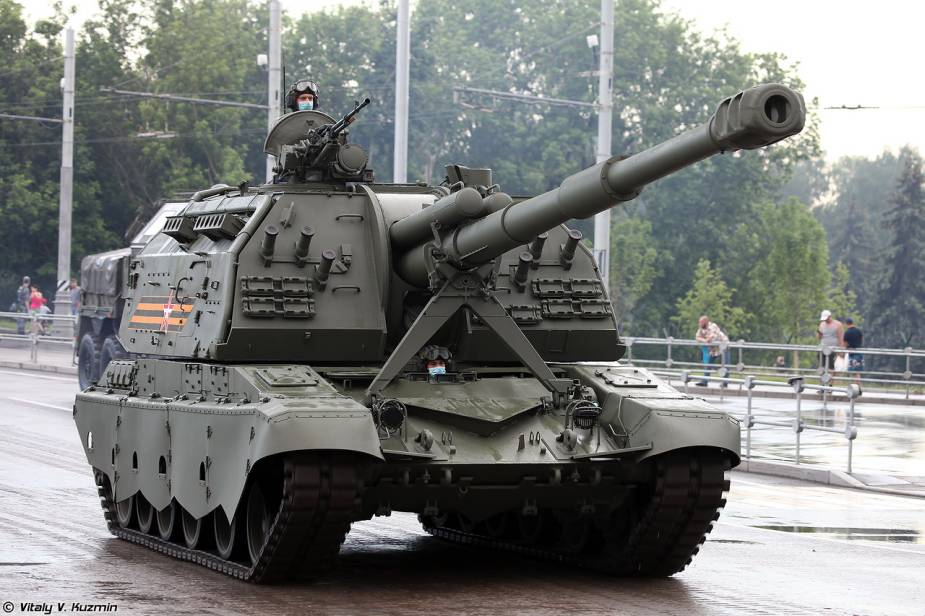 2S19M2 MSTA S 152mm self propelled howitzer Russia Victory Day military parade 2020 925 001