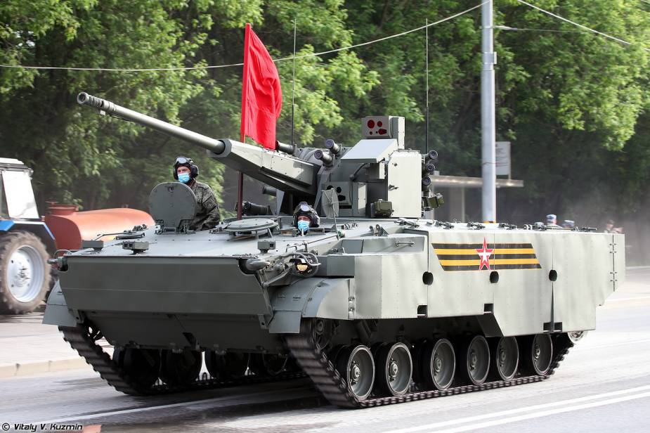 2S38 57mm self propelled anti aircraft tracked armored vehicle Russia victory day military parade 2020 001