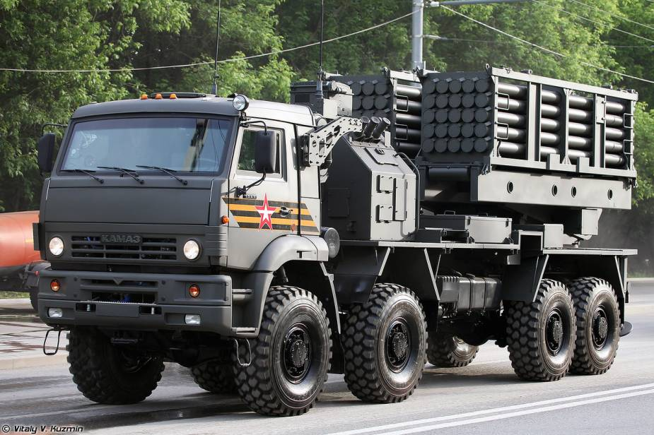 ISDM mine laying launcher system on 8x8 Kamaz truck Russia Victory Day military parade 2020 925 001