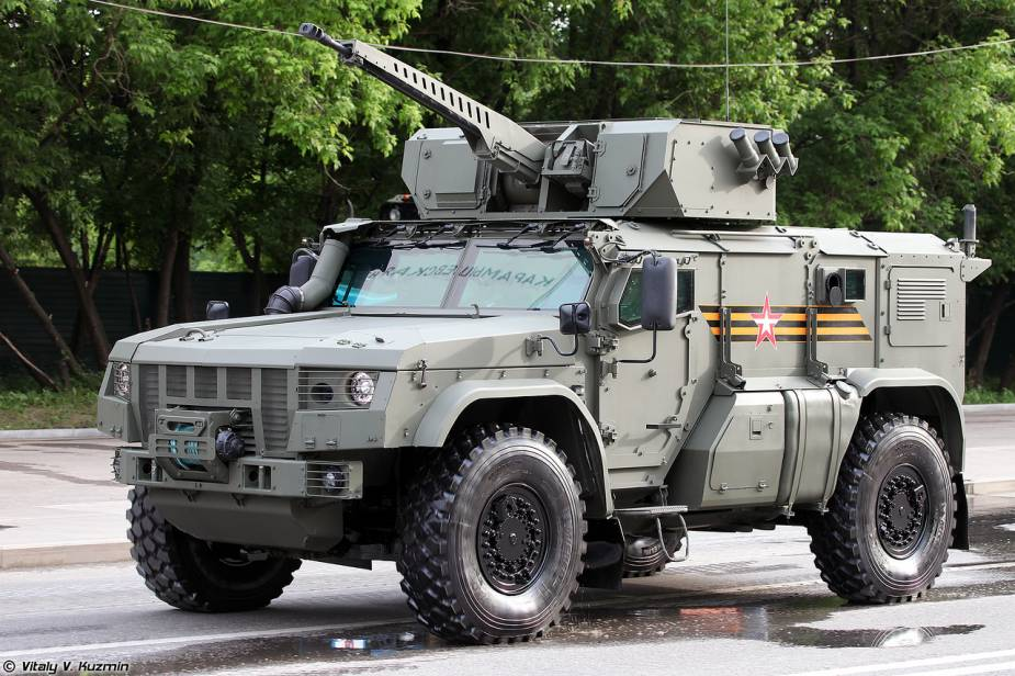 K 4386 Typhoon VDV 30mm cannon 4x4 wheeled armored Russia victory day military parade 2020 001