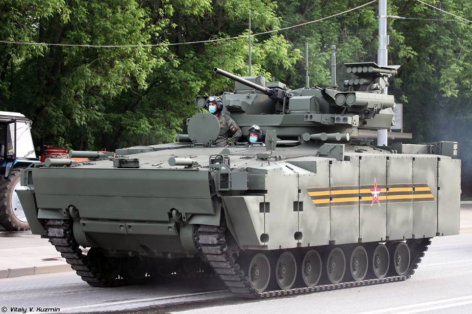 Kurganets 25 tracked armored IFV with Epokha turret Russia Victory Day military parade 2020 925 001