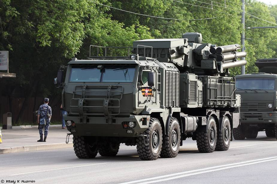 Pantsir SM short range cannon missile air defense system Russia victory day military parade 2020 001