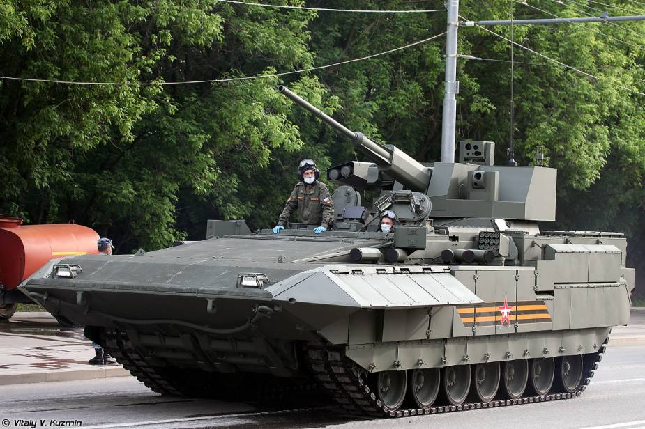 T 15 Armata tracked armored IFV Russia Victory Day military parade 2020 925 001