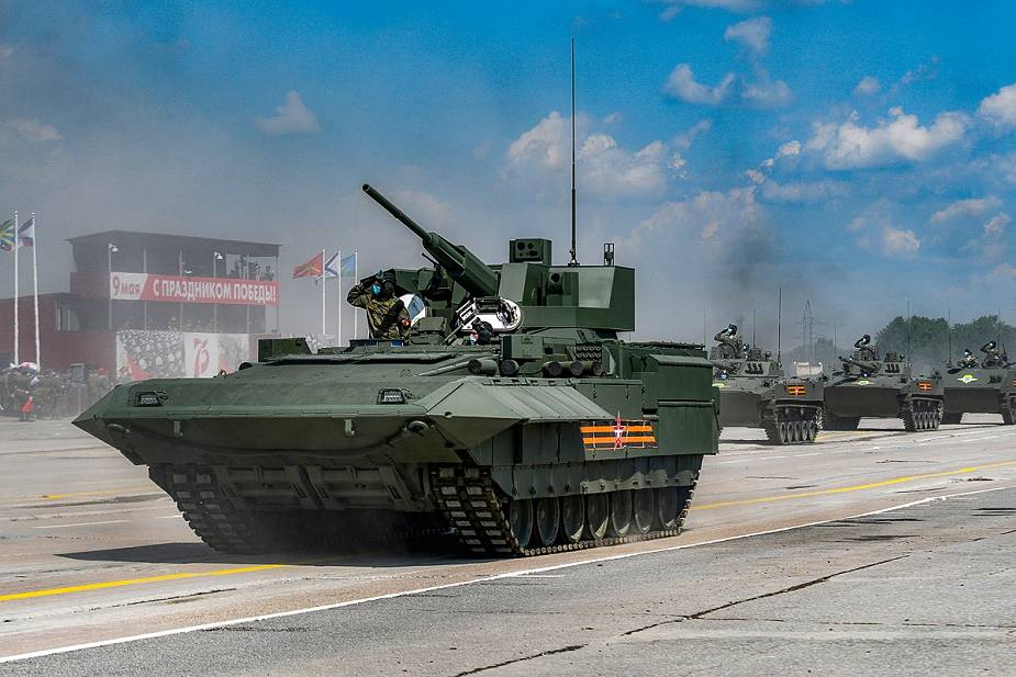 T 15 with 57mm turret tracked armored IFV Russia victory day military parade 2020 001
