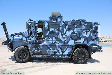 Thunder 2 4x4 tactical armoured truck personnel carrier police security vehicle Cambli Canada left side view 002