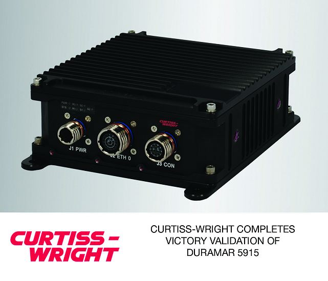 Curtiss-Wright Corporation (NYSE: CW) today announced that its Defense Solutions division, a Cisco® Systems Solution Technology Integration (STI) partner, has successfully completed validation testing to VICTORY (Vehicular Integration for C4ISR/EW Interoperability) specifications for its Parvus DuraMAR 5915 mobile IP Router subsystem.
