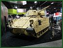 At AUSA 2014, the United States Army Annual Meeting and Exposition, Kongsberg shows a new modernization for the U.S. Army armoured infantry fighting vehicle Bradley fitted with the remote weapon station (RWS) Protector medium Caliber armed with the XM813 30mm cannon which is based on the Mk44 Bushmaster.