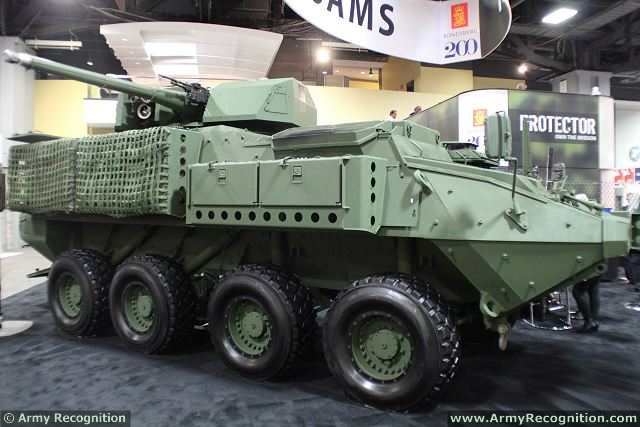 While the demonstration featured the XM813 on a Bradley, the potential exists for the system to be mounted on other combat vehicles. On the booth of Konsberg at AUSA 2014, the Protector medium caliber RWS was also mounted on a Stryker 8x8 armoured vehicle.