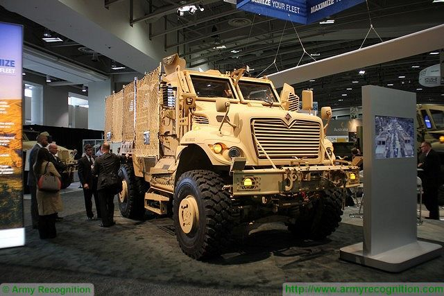 Latest MaxxPro MRAP with blast protection and Electronic