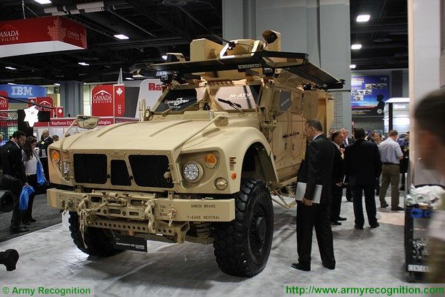 M-ATV Oshkosh Defense Mine-Resistance Ambush Protected Vehicles Oshkosh with Trophy LV AUSA 2015 640 001