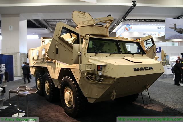 First foreign sale for the MACK Defense Lakota 6x6 armoured personnel carrier 640 AUSA 2016 001