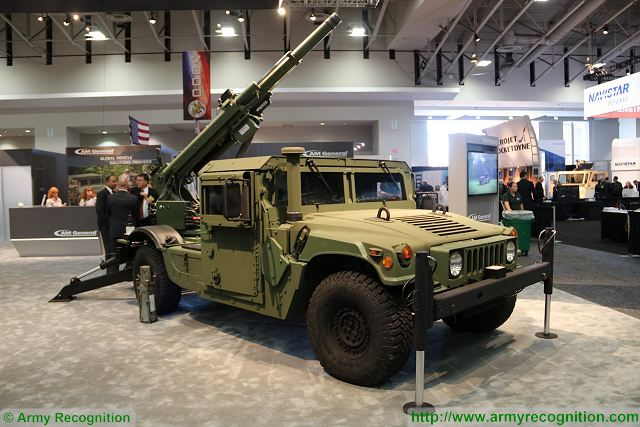 Hawkeye AM General lightweigh howitzer 105mm AUSA 2016 association US army exhibition Wasington DC 640 001
