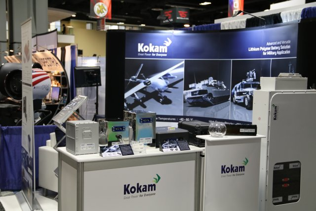Kokam showcases its batteries and energy management solutions at AUSA 2016 640 001