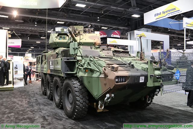 Kongsberg from Norway presents US Army 8x8 Stryker vehicle fitted with its MCRWS 30mm turret 001