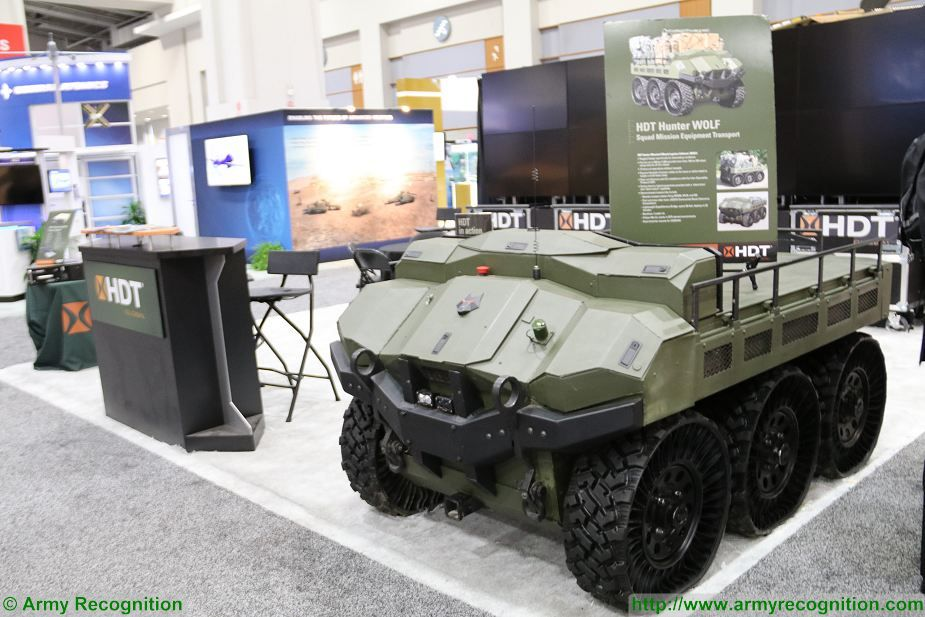 HDT unveils Hunter Wolf UGV for US Army Squad Mission Equipment Transport 925 001
