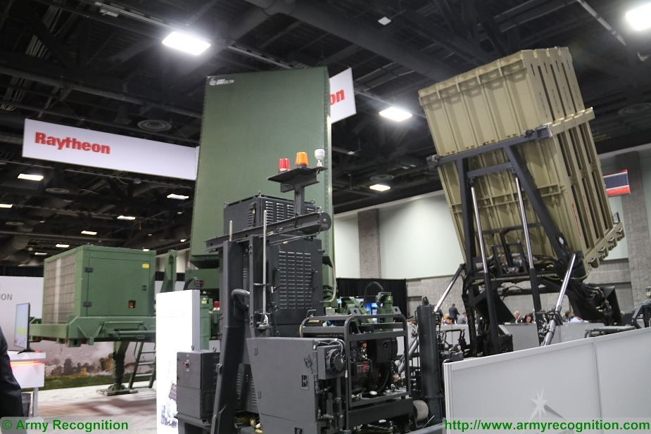 Raytheon SkyHunter US certified version of Iron Dome VSHORAD against rockets artillery shells at AUSA 2017 925 001