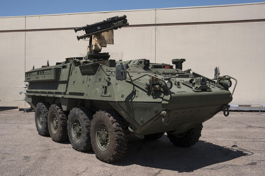 Raytheon Stinger SHORAD Stryker