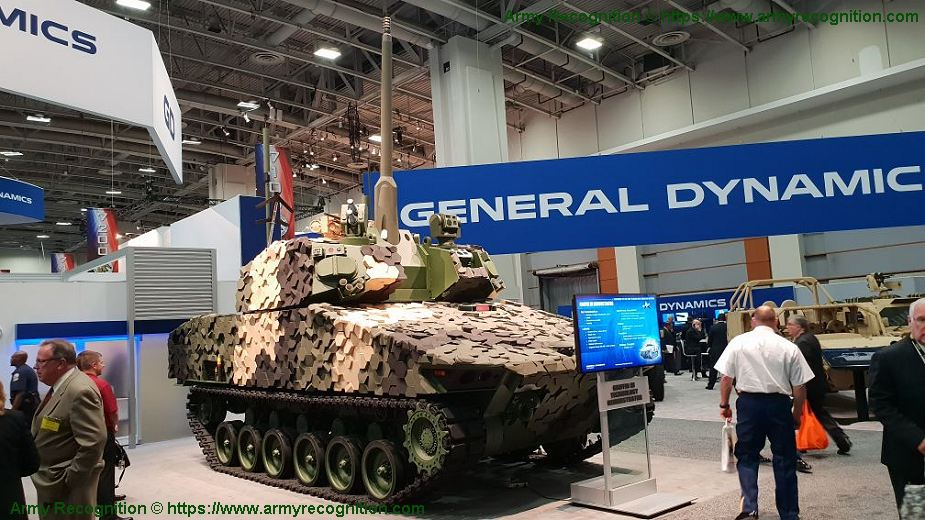 General Dynamics Griffin III new concept of 50mm light tank at AUSA 2018 United States Army defense exhibition 925 001