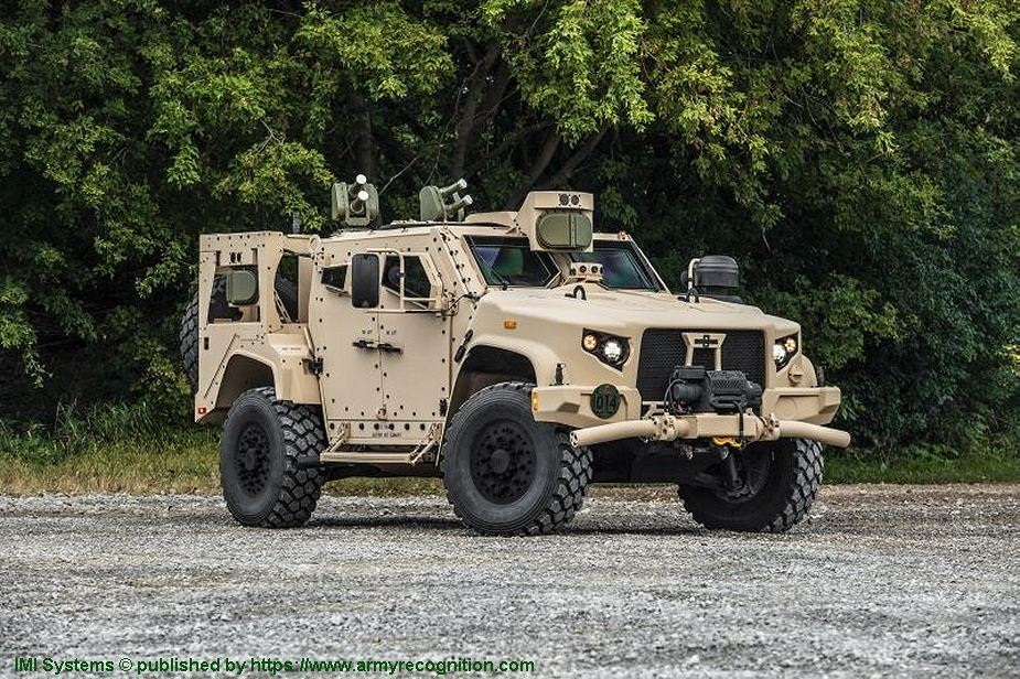 JLTV Oshkosh fitted with IMI Iron Fist Active Protection System at AUSA 2018 United States Army defense exhibition 925 001