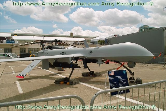 MQ-1 Predator unmanned aerial vehicle UAV data sheet specifications information description intelligence identification pictures photos images US Army United States American defence industry Law enforcement homeland security vehicle