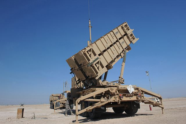 Patriot MIM-104 is a long-range, all-altitude, all-weather air defence missile system which was designed to counter tactical ballistic missiles, cruise missiles and advanced aircraft. Patriot is produced by American companies Raytheon, Lockheed Martin Missiles and Fire Control.