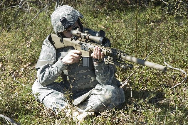 M110 Semi-Automatic Sniper System (SASS) delivers precision, rapid fire on targets and enables execution of operational missions not possible using the current weapon system.