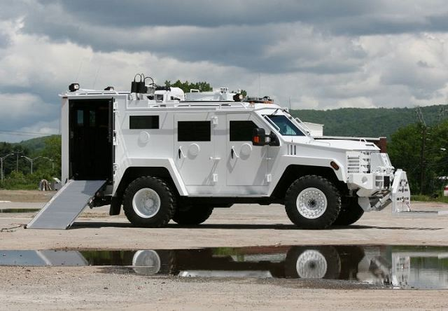 "Lenco Industries, Inc., the global leader in the design and manufacture of armored police vehicles, introduces the BearCat® EOD ""BombCat"" armored response vehicle for EOD and IEDD first responders. Designed with input from veteran explosive ordinance disposal experts with decades of field experience and knowledge, the BombCat offers superior functionality in addition to the proven life-saving protection of Lenco's armored vehicles."
