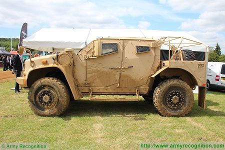 L ATV light wheeled combat vehicle United States American defence industry left side view 450 001
