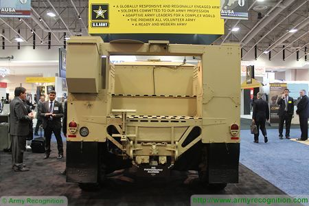 L ATV light wheeled combat vehicle United States American defence industry rear view 450 001