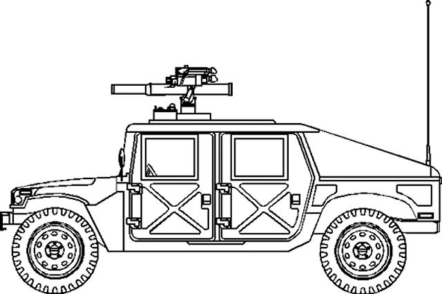 military coloring pages iraq | Humvee Drawing