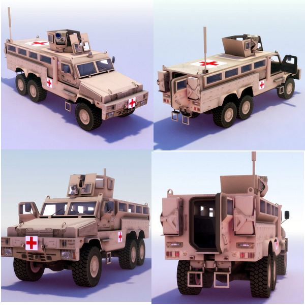 RG33 RG-33 HAGA Heavily Armoured Ground Ambulance data sheet specifications information description intelligence identification pictures photos images US Army United States American defense military BAE Systems