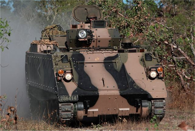 M113AS4 light tracked armoured vehicle personnel carrier APC Australia Australian army military equipment 640 002