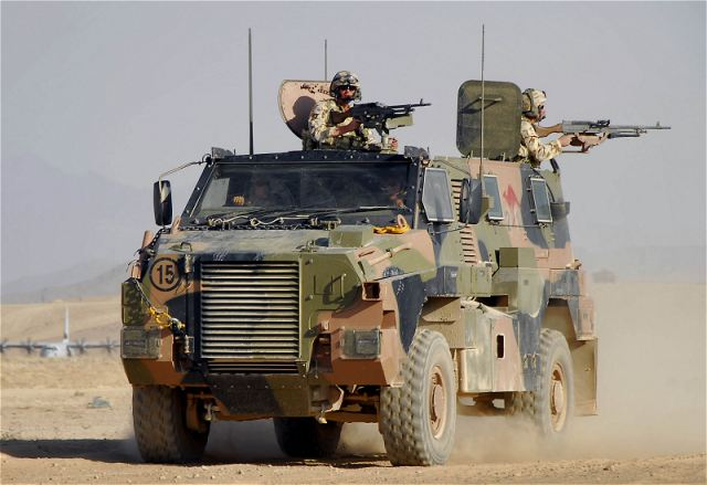Bushmaster Thales armoured vehicle technical data sheet description specifications information identification pictures photos images Australia Australian army