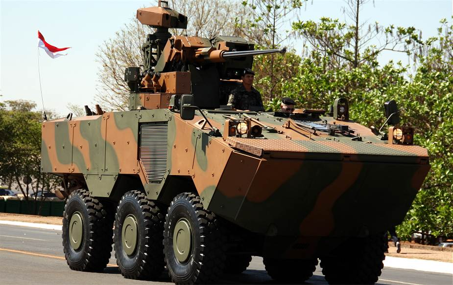 Guarani VBTP MR APC wheeled armoured vehicle personnel carrier Brazil Brazilian army 925 001